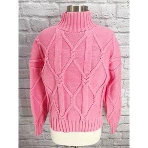 J. Crew Sweaters - •J. Crew Collection• Cable Knit Mock Sweater Pink